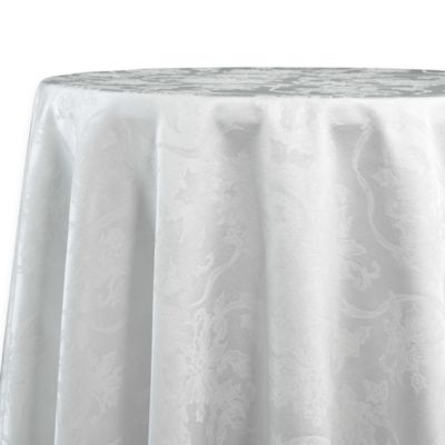 Christmas Ribbons 70 Inch Round Tablecloth In White