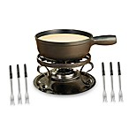 Swissmar® Lugano 9-Piece Black Cheese Fondue Set