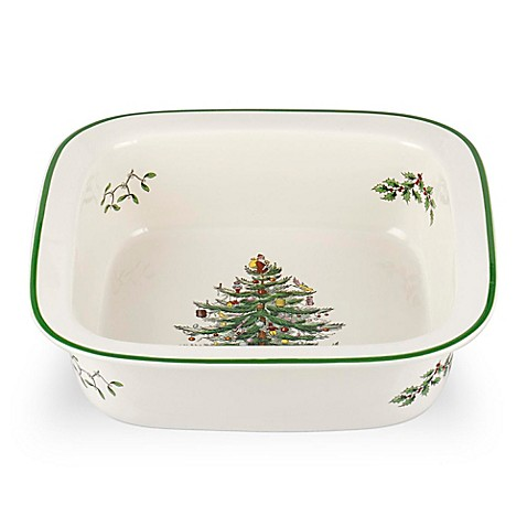 Spode Christmas Tree 10 Inch Square Baker Bed Bath Beyond