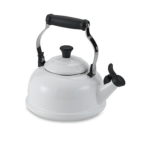 Le Creuset 174 1 8 Quart Whistling Tea Kettle In White Bed