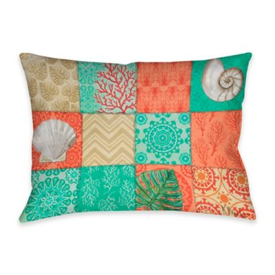 Coastal Chic Indoor/Outdoor Throw Pillow In Multi