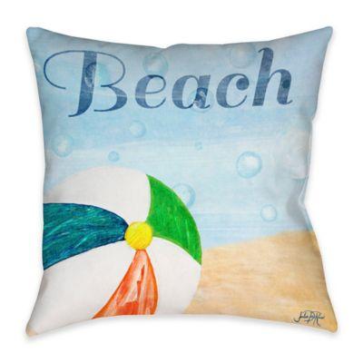 Superior Beach Play II Indoor/Outdoor Throw Pillow
