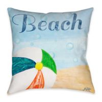 Beach Play II Indoor/Outdoor Throw Pillow