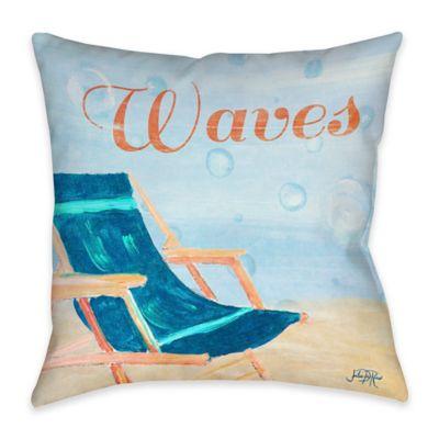 Beach Play III Indoor/Outdoor Throw Pillow