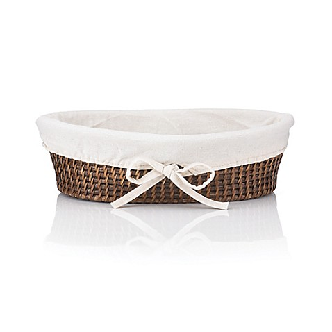 the french chefs rattan bread basket with liner bed bath beyond. Black Bedroom Furniture Sets. Home Design Ideas