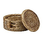The French Chefs™ 5-Piece Rattan Coaster Set