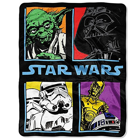 Star Wars Quot Pop Saga Quot Classic Plush Raschel Throw Blanket