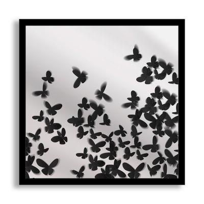 butterflies framed printed mirror art