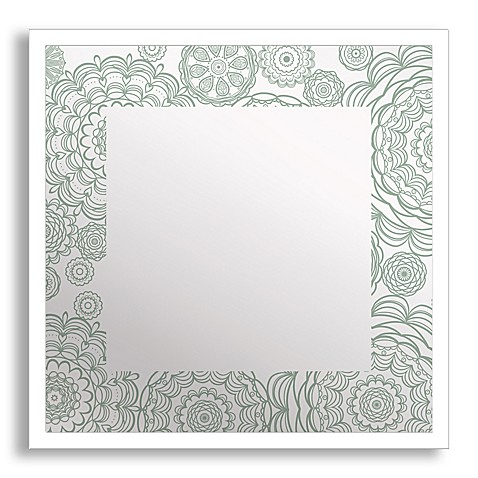 Flowers in Lace Framed & Printed Mirror Art - Bed Bath & Beyond