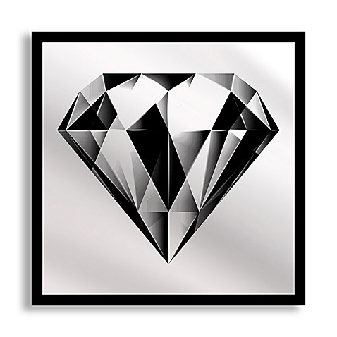 Black Diamond Framed u0026 Printed Mirror Wall Art  sc 1 st  Bed Bath u0026 Beyond & Black Diamond Framed u0026 Printed Mirror Wall Art - Bed Bath u0026 Beyond