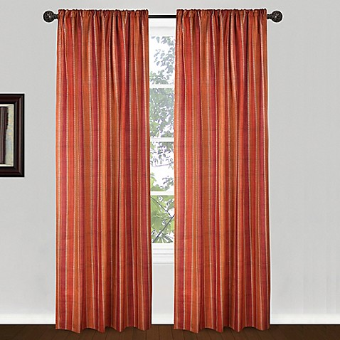 84 inch banyon window curtain panel in red orange bed. Black Bedroom Furniture Sets. Home Design Ideas