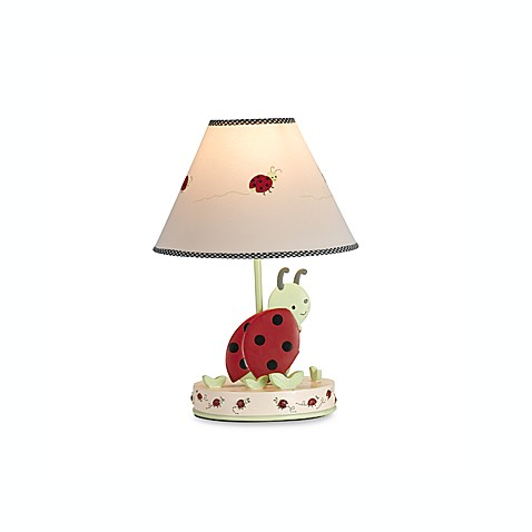 Kids line lady bug lamp base and shade