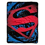 DC Comics Superman Shield Micro-Raschel Throw