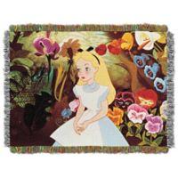 "Disney® Alice in Wonderland ""Alice in the Garden"" Tapestry Throw"