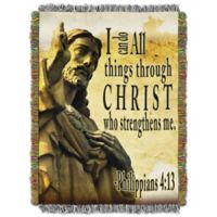 Strengthens Me Tapestry Throw