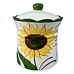 Lorren Home Trends Sunflower Design Cookie Jar