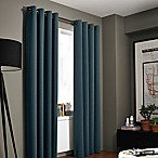 Kenneth Cole Reaction Home Gotham Texture 84-Inch Lined Grommet Window Curtain Panel in Azure