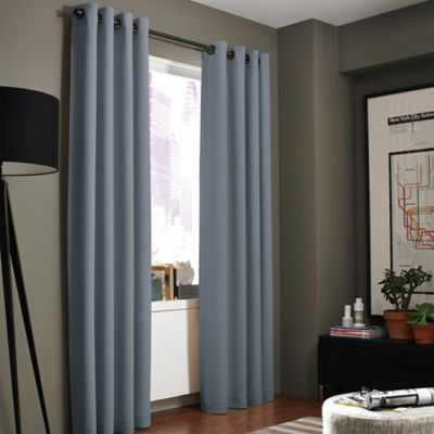 Buy Smoke Blue Window Panel From Bed Bath Amp Beyond