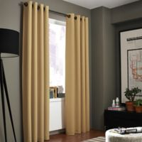 Kenneth Cole Reaction Home Gotham Texture 108-Inch Lined Grommet Window Curtain Panel in Amber