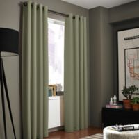 Kenneth Cole Reaction Home Gotham Texture 84-Inch Lined Grommet Window Curtain Panel in Sage