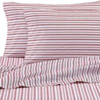 Nautica® Coleridge Full Sheet Set in Red