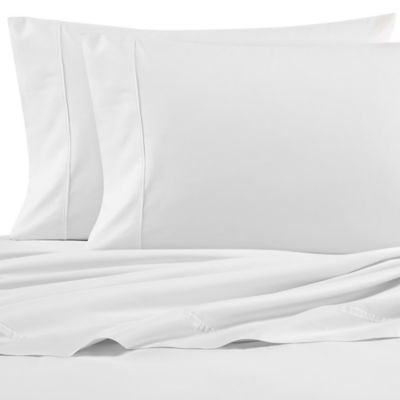 Nautica 200-Thread-Count Solid Full Sheet Set in White