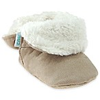 Capelli New York Size 6-12M Faux Suede Fold-Over Slippers in Tan