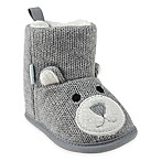Capelli New York Size 12-18M Bear Knit Slipper in Grey