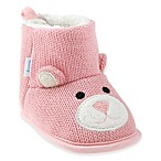 Capelli New York Size 12-18M Bear Knit Slipper in Pink
