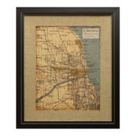 Art Environs Chicago Map 18-Inch x 22-Inch Framed Wall Art
