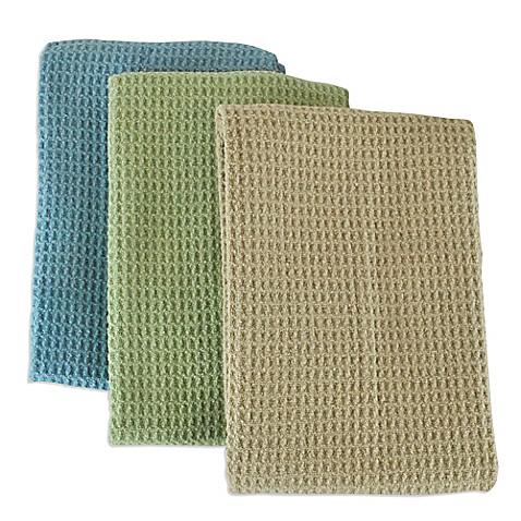 Microfiber Multi Purpose Kitchen Towels Set Of 3 In