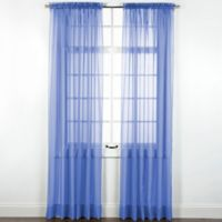 Elegance Sheer 84-Inch Window Curtain Panel in Cobalt