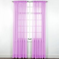 Elegance Sheer 84-Inch Window Curtain Panel in Lilac