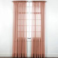 Elegance Sheer 84-Inch Window Curtain Panel in Mocha