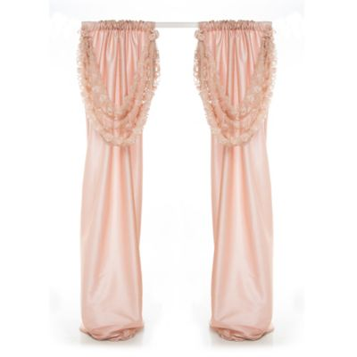 Glenna Jean Paris 90 Inch Window Curtain Panel Pair with Rosette Swag. Buy Baby Room Curtains from Bed Bath   Beyond