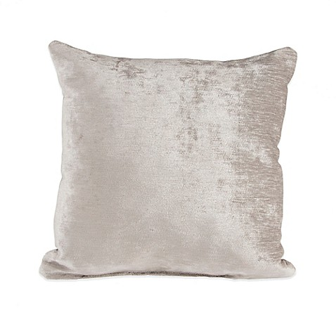 image of Glenna Jean Fly-By Velvet Throw Pillow in Grey