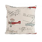 Glenna Jean Fly-By Airplane Print Throw Pillow