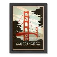 Americanflat 21.5-Inch x 27.5-Inch Golden Gate Bridge Framed Wall Art