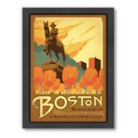 Americanflat Boston 27.5-Inch x 21.5-Inch Framed Wall Art