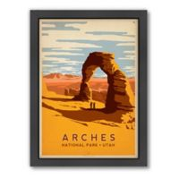 Americanflat 21-Inch x 27-Inch Arches Framed Wall Art