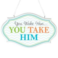 "Lillian Rose™ ""You Wake Him...You Take Him"" Wall Art"
