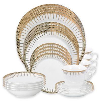 Lorren Home Trends Aria 24-Piece Dinnerware Set  sc 1 st  Bed Bath u0026 Beyond & Buy Lorren Home Trends Dinnerware Sets from Bed Bath u0026 Beyond