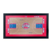 NBA Detroit Pistons Home Court Framed Plaque