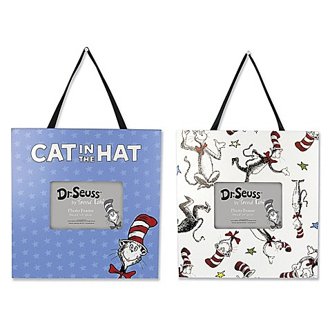 Trend Lab Dr Seuss Cat In The Hat Picture Frames Set Of 2 Bed