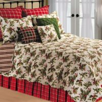 Mistletoe Reversible King Quilt in Cream
