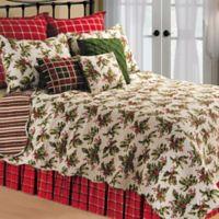 Mistletoe Standard Pillow Sham in Cream