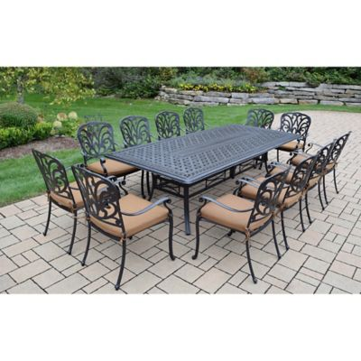 Oakland Living Clairmont 13 Piece Outdoor Dining Set In Antique Bronze