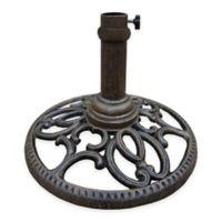 Oakland Living Regal Round Cast Iron Umbrella Stand in Antique Bronze