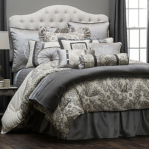image of HiEnd Accents Kerrington Duvet Cover in Grey