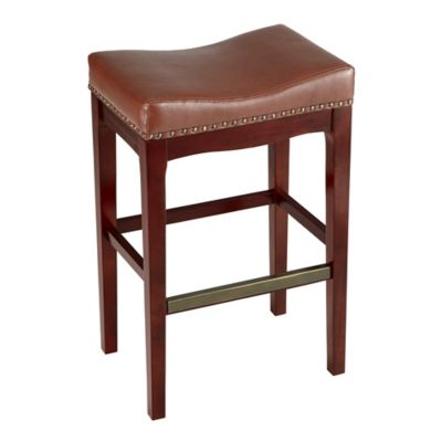 Griffin Bar Stool in Cognac  sc 1 st  Bed Bath u0026 Beyond : wood saddle bar stools - islam-shia.org